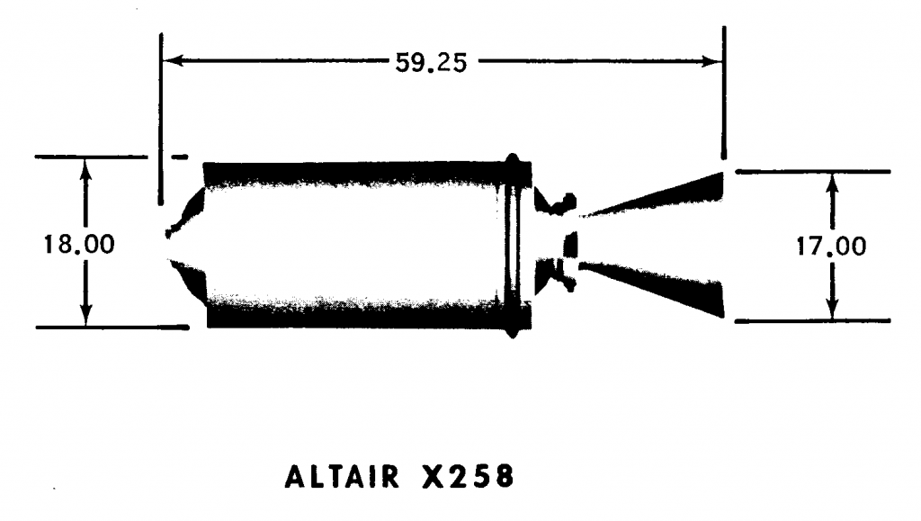 Altair IIA X258 Technical Drawing [SC1]