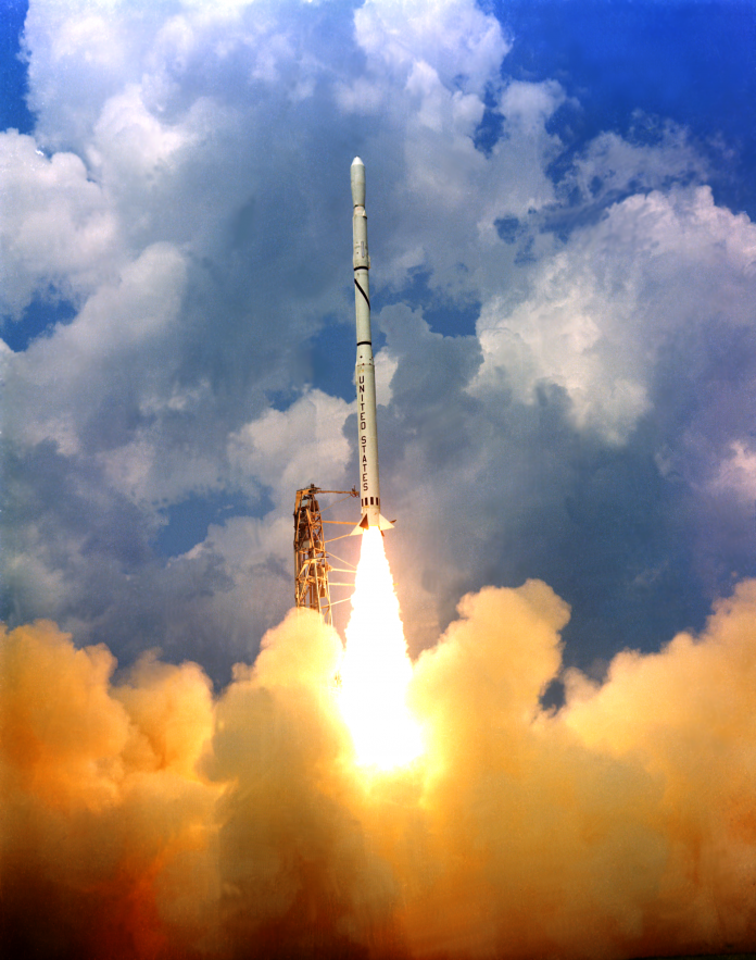 Scout Lift Off from Wallops 1965 (NASA)