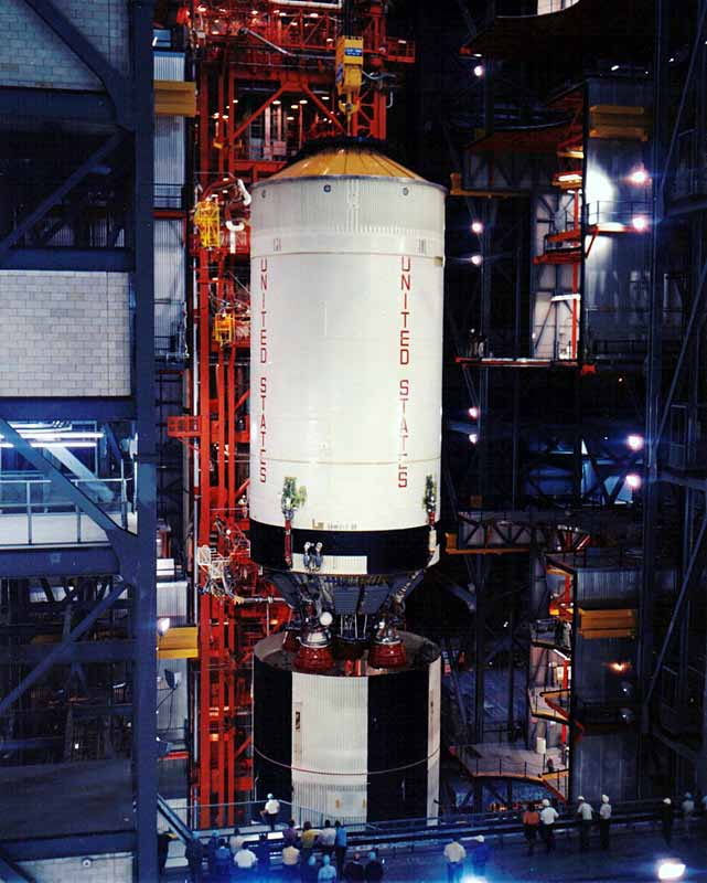 Apollo 4 Assembly in VAB - S-II Stage [ST2]